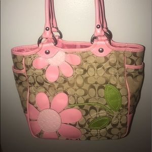 Flower coach purse